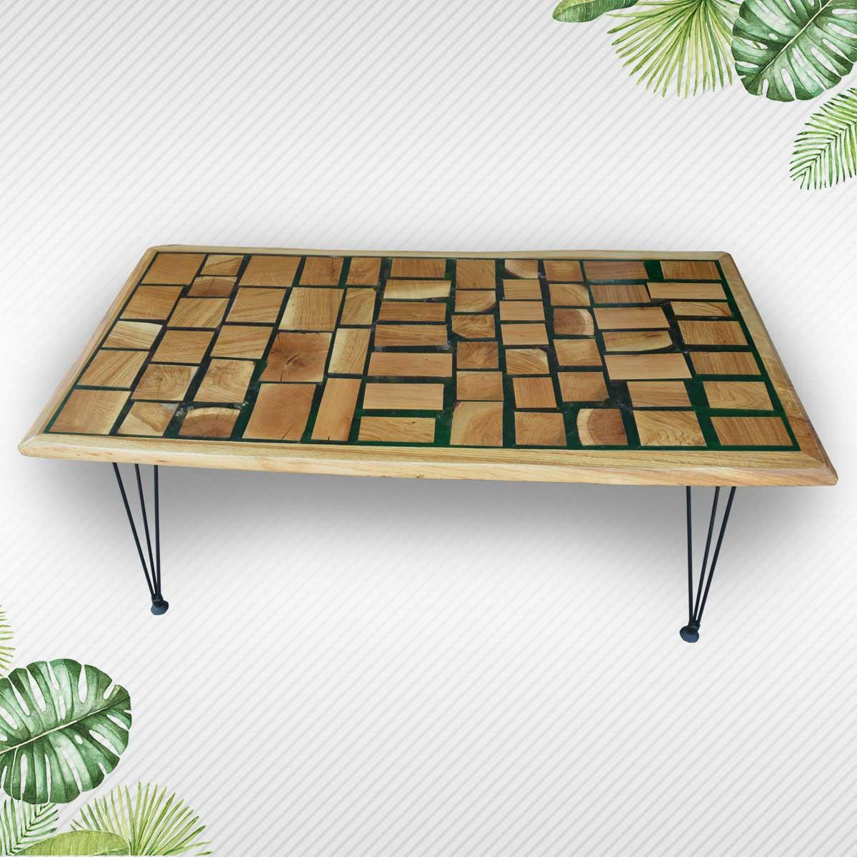 Natural Wood Slices Epoxy Resin Decorative Wooden Table Eximany