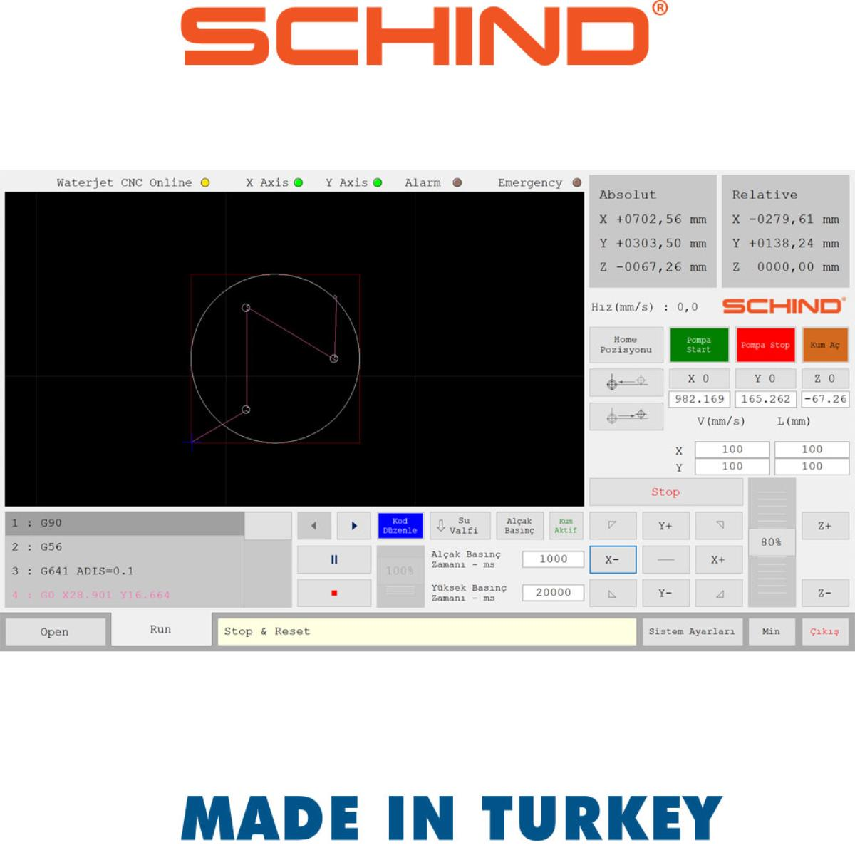 Schind CNC Waterjet Bridge Type Cutting Machine | Eximany