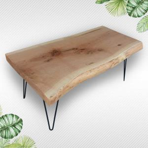 Natural Wood Table For Cafe, Bar, Restaurant