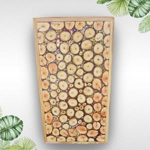 Natural Wood Slices Epoxy Resin Decorative Wooden Table