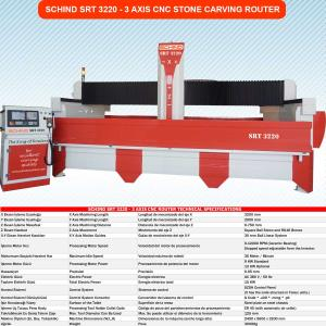 SRT 3220 - 3 AXIS CNC STONE CARVING ROUTER, MARBLE PROCESSING MACHINE