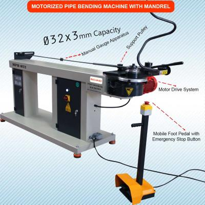 Mandrel Pipe and Tube Bending Machine MPB - Ø32  - Semi Automatic - Mechanical