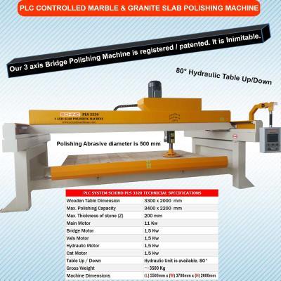 SCHIND PLS 3320 - 3 Axis - Bridge - Marble and Granite Polishing Machine