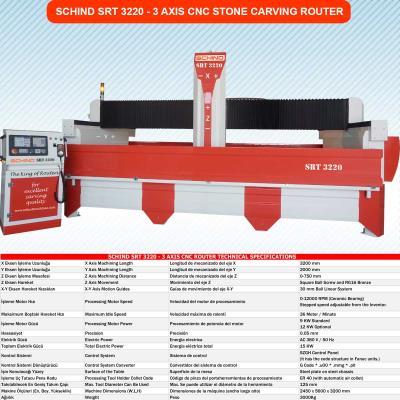 SRT 3220 CNC ROUTER 3 EKSEN MERMER İŞLEME MAKİNESİ
