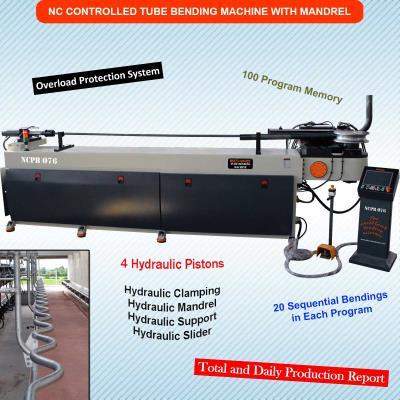 Malafalı Boru ve Profil Bükme Makinesi SCHIND NCPB Ø76 - Hidrolik - NC